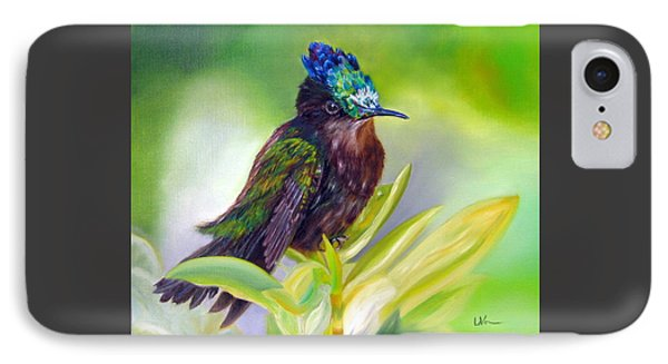 Antillean Crested Hummingbird IPhone Case by LaVonne Hand