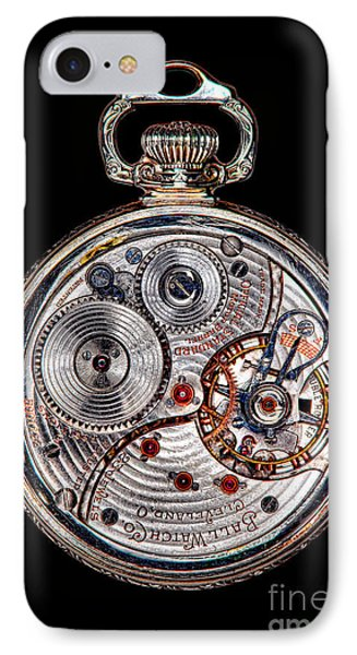 Antique Ball Railroad Watch Movement  IPhone Case by Olivier Le Queinec