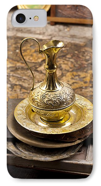 Antique Brass Pitcher Phone Case by Rae Tucker