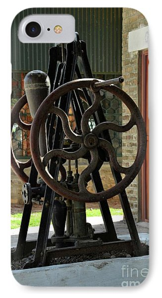 Antique British Hand Turned Pump At Pakistan Railway Museum Golra Sharif Islamabad IPhone Case
