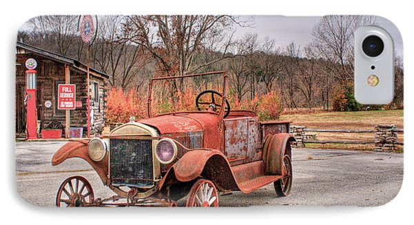 Antique Car And Filling Station 1 Phone Case by Douglas Barnett