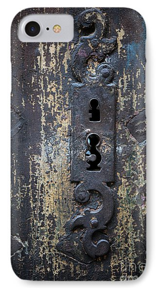 IPhone Case featuring the photograph Antique Door Lock Detail by Elena Elisseeva