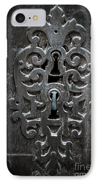 Antique Door Lock IPhone Case by Elena Elisseeva