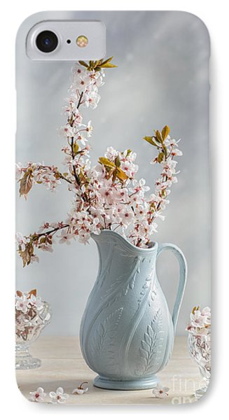 Antique Jug With Blossom IPhone Case by Amanda Elwell