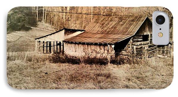 Antique Log Beam Barn Southern Indiana IPhone Case by Scott D Van Osdol