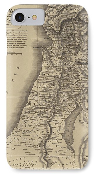 Antique Map Of Canaan IPhone Case