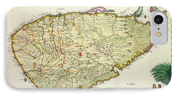 Antique Map Of Ceylon IPhone Case