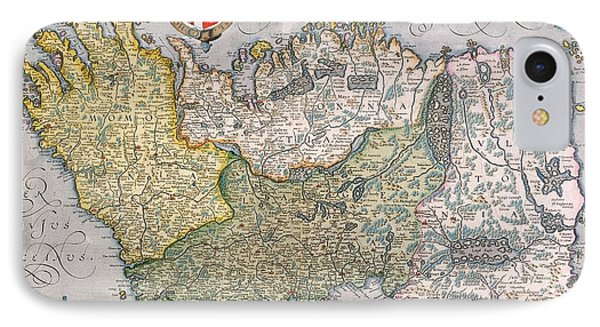 Antique Map Of Ireland IPhone Case