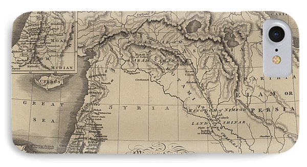 Antique Map Of Mesopotamia With Canaan And Other Parts Of The Middle East IPhone Case by English School