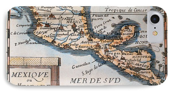Antique Map Of Mexico Or New Spain Phone Case by French School