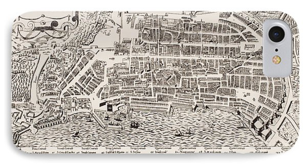 Antique Map Of Naples IPhone Case by Italian School