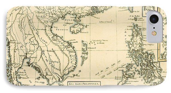 Antique Map Of South East Asia IPhone Case by Guillaume Raynal