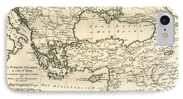 Antique Map Of Turkey IPhone Case
