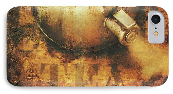 Antique Old Tea Metal Sign. Rusted Drinks Artwork IPhone Case