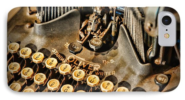 Antique Oliver Typewriter IPhone Case by Paul Ward