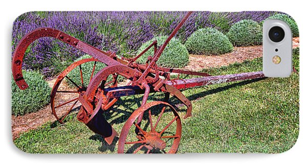 Antique Plow And Lavender IPhone Case