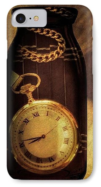 Antique Pocket Watch In A Bottle IPhone 7 Case by Susan Candelario