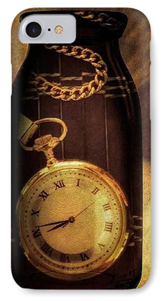 Antique Pocket Watch In A Bottle IPhone Case by Susan Candelario