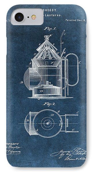 Antique Police Lantern Illustration IPhone Case by Dan Sproul