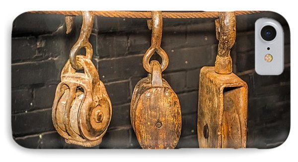 Antique Pulleys IPhone Case by Paul Freidlund