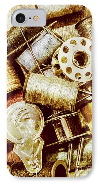 Antique Sewing Artwork IPhone Case by Jorgo Photography - Wall Art Gallery