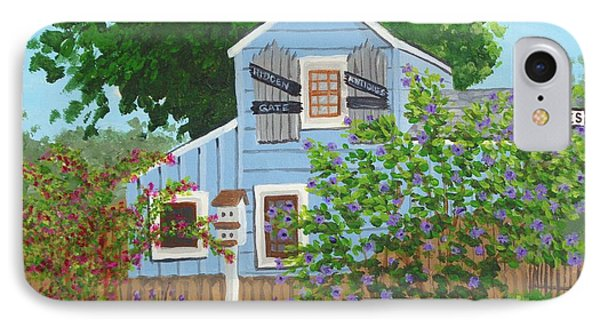IPhone Case featuring the painting Antique Shop, Cambria Ca by Katherine Young-Beck