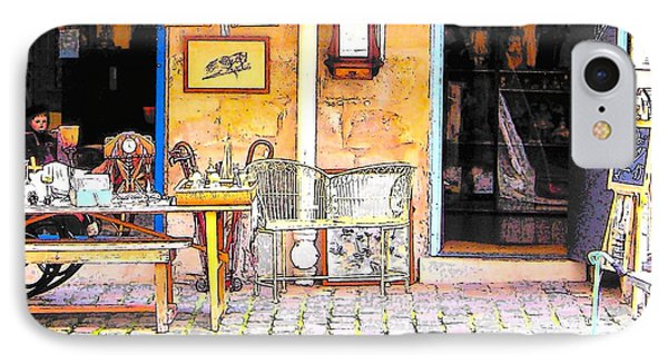 Antique Shop In Paris IPhone Case by Jan Matson