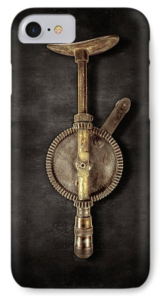 Antique Shoulder Drill Backside On Black IPhone Case by YoPedro