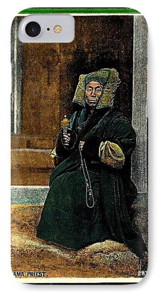 Antique Tibetan Lama IPhone Case by Peter Gumaer Ogden