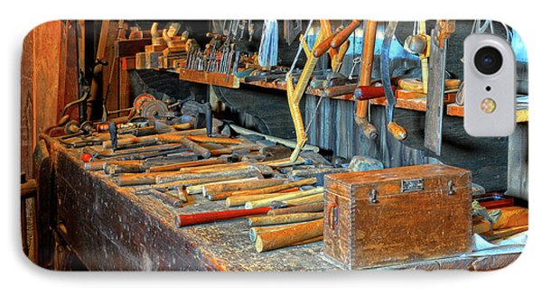 Antique Tool Bench IPhone Case by Dave Mills