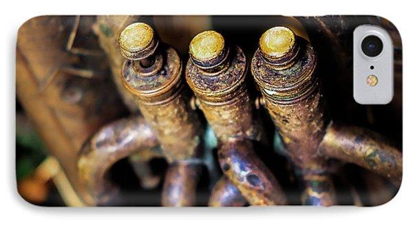Antique Tuba IPhone Case by Jon Woodhams