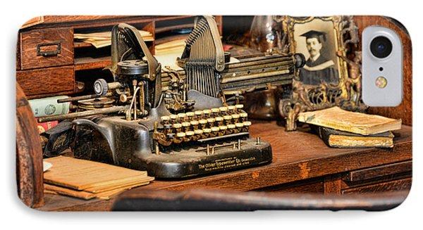 Antique Typewriter Phone Case by Paul Ward