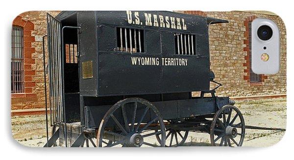 Antique U.s Marshalls Wagon IPhone Case