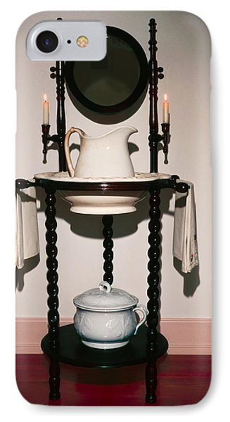 Antique Wash Stand IPhone Case by Sally Weigand