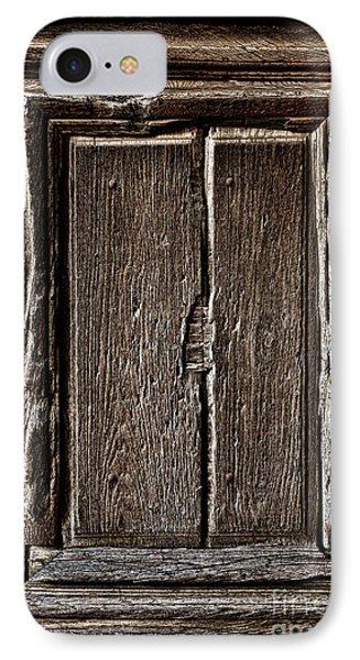 Antique Wood Door Panel IPhone Case by Olivier Le Queinec