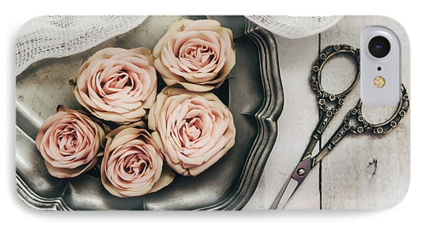 IPhone Case featuring the photograph Antiqued Roses by Kim Hojnacki