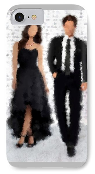 IPhone Case featuring the digital art Antonia And Giovanni by Nancy Levan