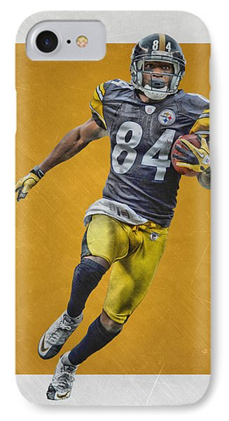 Antonio Brown Pittsburgh Steelers Art IPhone Case by Joe Hamilton