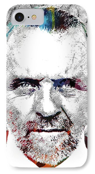 Antony Hopkins IPhone Case by Mihaela Pater