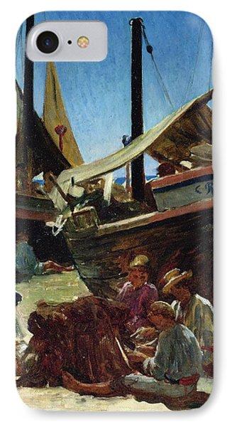 Anzio The Port Phone Case by Antoine Auguste Ernest Hebert