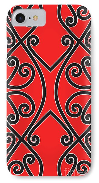 IPhone Case featuring the digital art Aotearoa Koru by Brian Gibbs