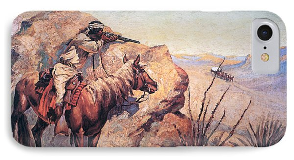 Apache Ambush IPhone Case by Frederic Remington