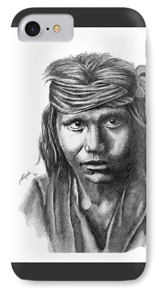 Apache Boy IPhone Case by Lawrence Tripoli