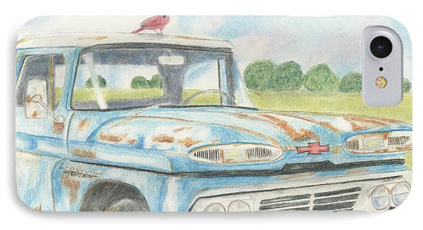 IPhone Case featuring the drawing Apache Out To Pasture by Arlene Crafton
