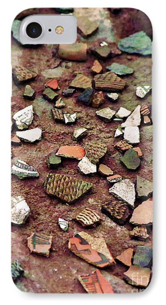 IPhone Case featuring the photograph Apache Pottery Shards by Juls Adams