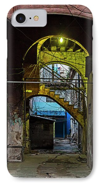 IPhone Case featuring the photograph Apartment Enrance Havana Cuba Near Calle C by Charles Harden