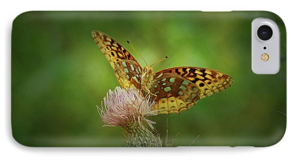 IPhone Case featuring the photograph Aphrodite Fritillary Butterfly by Sandy Keeton