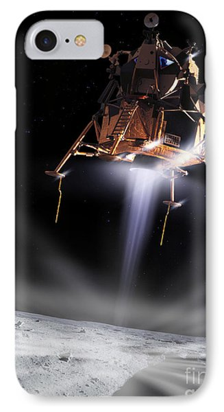 Apollo 11 Moon Landing Phone Case by Detlev Van Ravenswaay and Photo Researchers