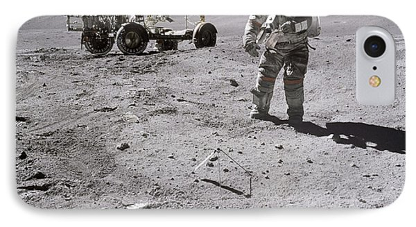 Apollo 16 Astronaut Collects Samples IPhone Case by Stocktrek Images