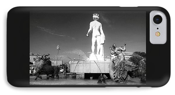 Apollo At Fontaine Du Soleil, Nizza IPhone Case by Monique Wegmueller